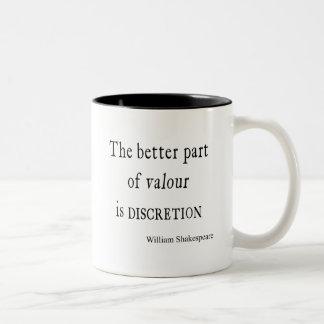 勇気の思慮分別のシェークスピアの引用文の大半 ツートーンマグカップ