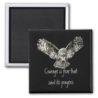 勇気はフクロウが付いている祈りの言葉を言った恐れです マグネット