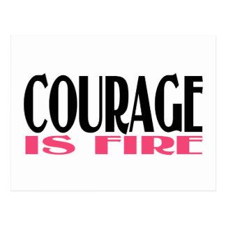 勇気は火です ポストカード