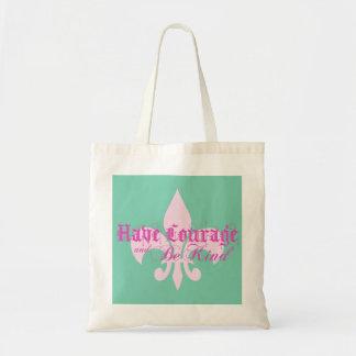 勇気を持ち、親切な-アヤメ-ピンクがあって下さい トートバッグ