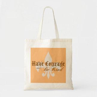 勇気を持ち、親切な-アヤメ-ブラウンがあって下さい トートバッグ