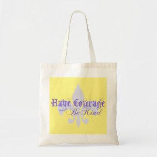 勇気を持ち、親切な-アヤメ-紫色があって下さい トートバッグ