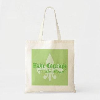 勇気を持ち、親切な-アヤメ-緑があって下さい トートバッグ