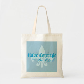 勇気を持ち、親切な-アヤメ-青があって下さい トートバッグ