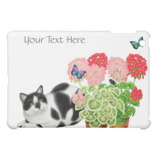 勇気カスタマイズ可能な蝶を持つ猫 iPad MINI CASE