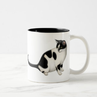 勇気タキシード猫のマグ ツートーンマグカップ