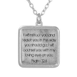 勇気付けられるの聖書の詩の賛美歌の32:8のネックレス シルバープレートネックレス