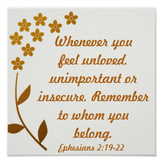 勇気付けられるの聖書の詩のEphesiansの2:19 - 22 ポスター