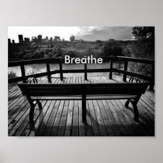 勇気付けられるポスターを呼吸して下さい ポスター