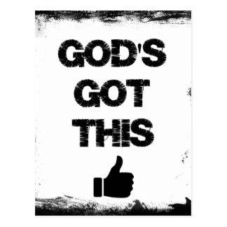 勇気付けられる: これ得られる神 ポストカード