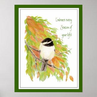 勇気付けられる、生命の刺激の引用文の季節 ポスター