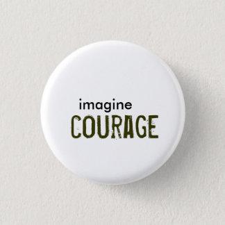 、勇気想像して下さい 3.2CM 丸型バッジ