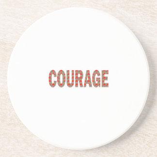 勇気: 勇敢で親切なリーダーのチャンピオンLOWPRICESのギフト コースター