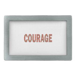 勇気: 勇敢で親切なリーダーのチャンピオンLOWPRICESのギフト 長方形ベルトバックル