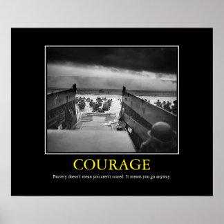 勇気 -- 攻撃開始日のプリント ポスター