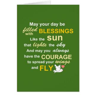 勇気-緑のタイポグラフィのためのアイルランドの天恵 カード