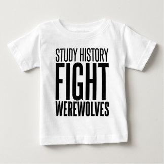 勉強の歴史、戦いの狼人間 ベビーTシャツ