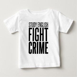 勉強の英語、戦いの罪 ベビーTシャツ