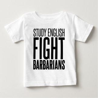 勉強の英語、戦いBarbarbians ベビーTシャツ