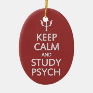 勉強のPsychの穏やかな及びカスタムなオーナメント保って下さい セラミックオーナメント