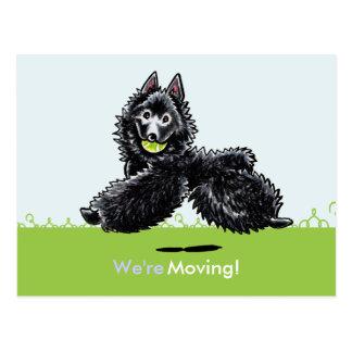 動かされた移動スキッパーキの新しい住所発表 ポストカード