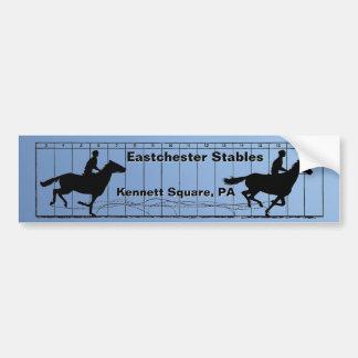 動きの乗馬アカデミーの馬 バンパーステッカー