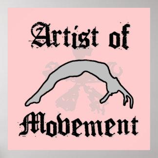 動きの倒れかけたポスターの芸術家 ポスター