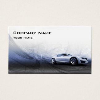 動きの名刺の灰色車 名刺