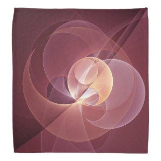 動きの抽象的でモダンなワインレッドのピンクのフラクタルの芸術 バンダナ