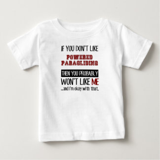 動力を与えられたパラグライダーのカッコいいを好まなければ ベビーTシャツ