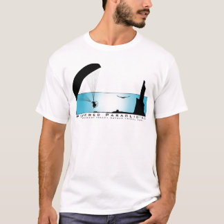 動力を与えられたパラグライダーPPG Tシャツ