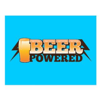 動力を与えられるビール ポストカード