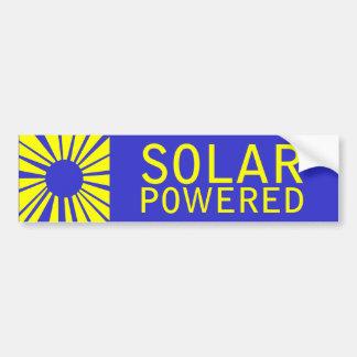 動力を与えられる太陽の バンパーステッカー