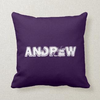 動揺してでグランジな一流の紫色の白 クッション