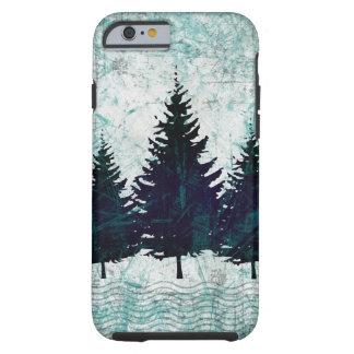 動揺してで素朴な常緑の松の木の森林 ケース
