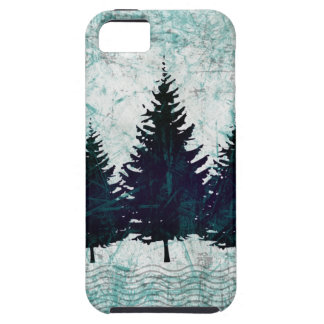 動揺してで素朴な常緑の松の木の森林 iPhone SE/5/5s ケース