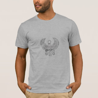動揺してなエジプトのヒエログリフのロゴ Tシャツ
