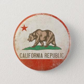 動揺してなカリフォルニア共和国の旗が付いているボタン 缶バッジ