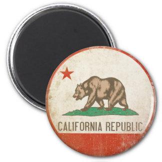 動揺してなカリフォルニア共和国の旗が付いている磁石 マグネット