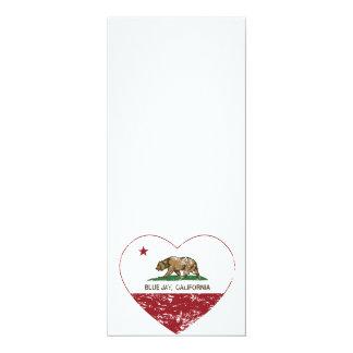 動揺してなカリフォルニア旗のアオカケスのハート カード