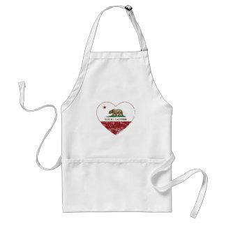 動揺してなカリフォルニア旗のアオカケスのハート スタンダードエプロン