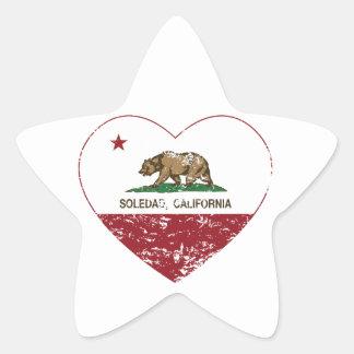 動揺してなカリフォルニア旗のソウルダッドのハート 星シール
