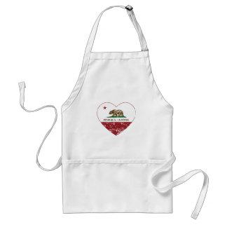 動揺してなカリフォルニア旗のヒマラヤスギの谷間のハート スタンダードエプロン