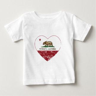 動揺してなカリフォルニア旗のプリマスのハート ベビーTシャツ