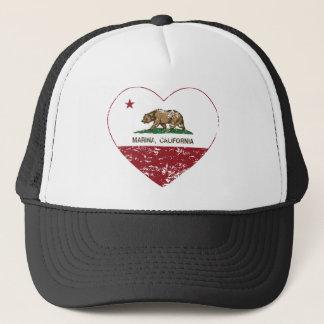 動揺してなカリフォルニア旗のマリーナのハート キャップ