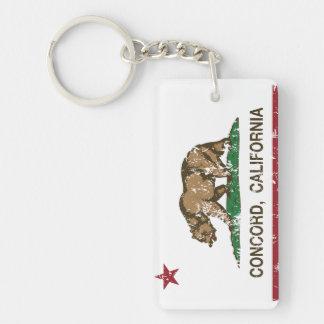 動揺してなカリフォルニア旗の一致 キーホルダー