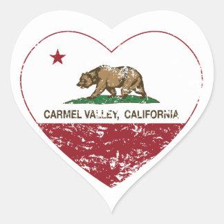 動揺してなカリフォルニア旗のcarmelの谷のハート ハートシール