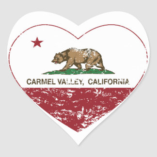 動揺してなカリフォルニア旗のcarmelの谷のハート ハート型シール