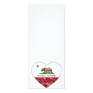 動揺してなカリフォルニア旗のidyllwildのハート カード