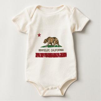 動揺してなカリフォルニア旗バークレー ベビーボディスーツ